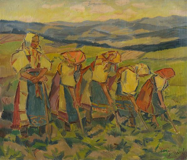 Gustáv Mallý – Okopávačky (Ženy na poli)