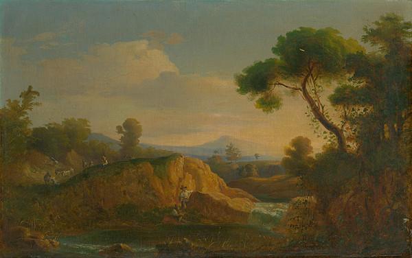 Karol Marko st. – Idylická krajina s jazierkom
