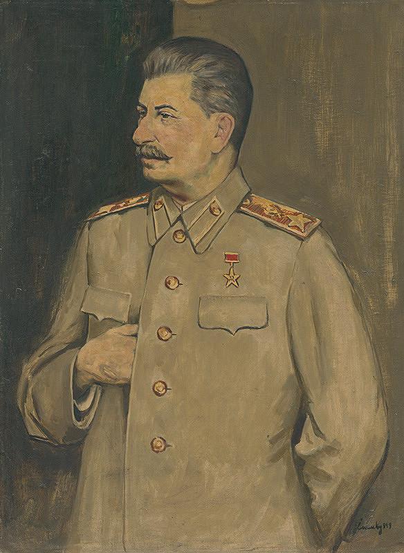 Ladislav Čemický – Portrét Stalina