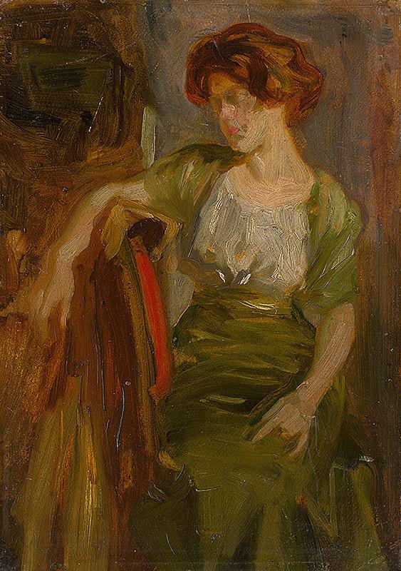 Ľudovít Pitthordt - Štúdia sediacej ženy