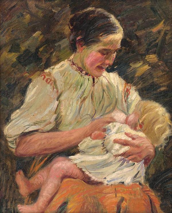 Gustáv Mallý – Matka pri kojení