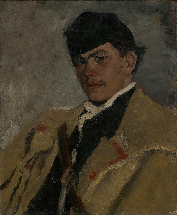 Ladislav Mednyánszky - Pastier v kožuchu.