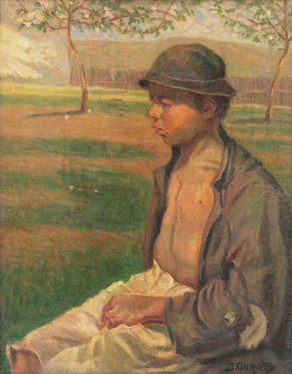 Jaroslav Augusta - Štúdia cigánskeho chlapca