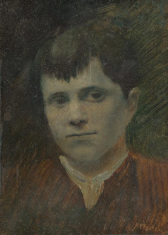 Ladislav Mednyánszky - Hlava sedliackeho chlapca