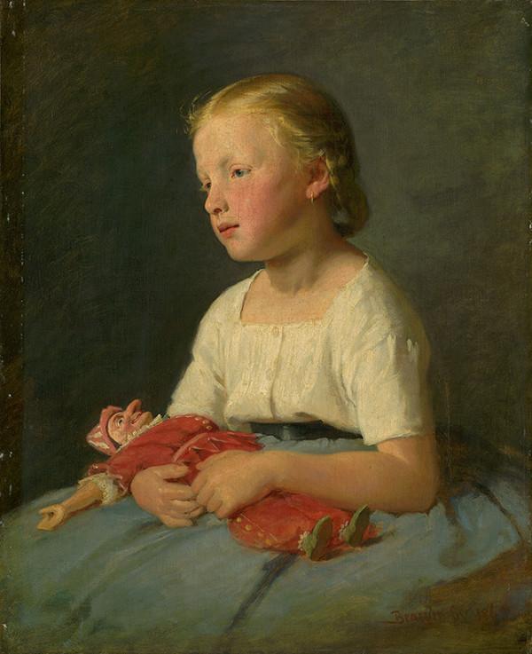 Gyula Benczúr – Dievčatko s bábikou