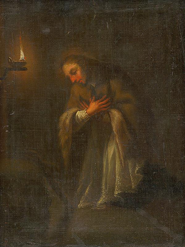Slovenský maliar z 2. polovice 18. storočia, Neznámy maliar - Kľačiaci svätý Ján Nepomucký