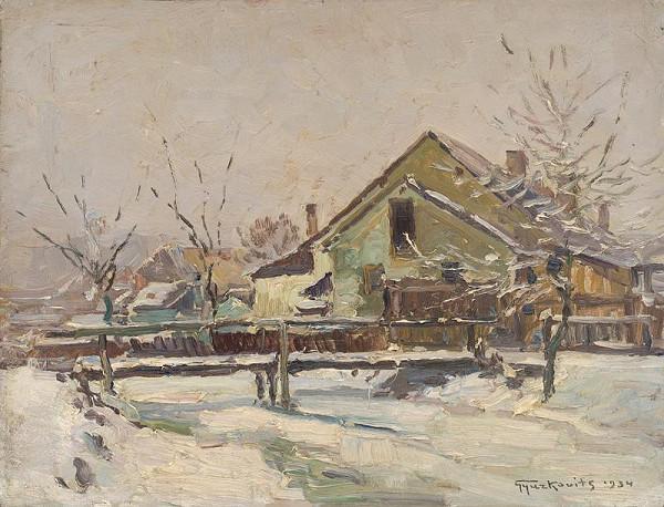 František Gyurkovits - Opatová pri Lučenci v zime