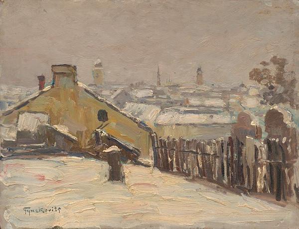 František Gyurkovits – Lučenec v zime