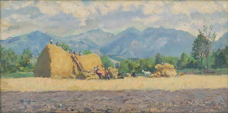 Ladislav Čemický – Mierová mlatba na ŠM v Čemiciach, 1954, Slovenská národná galéria