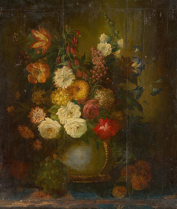 Nemecký maliar z 1. polovice 18. storočia – Zátišie s kvetmi