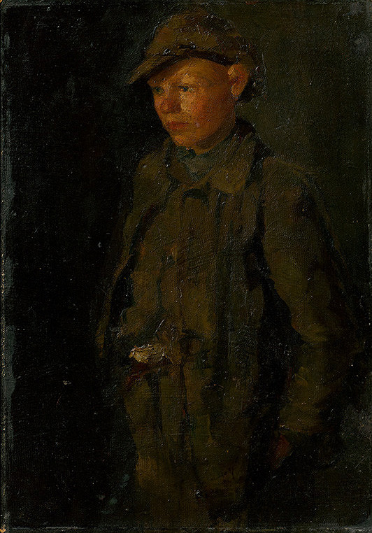 Ladislav Mednyánszky - Stojaci chlapec