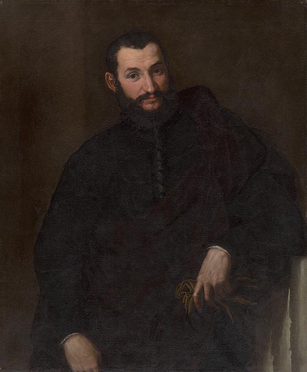 Paris Bordone – Portrét muža s torzom antického stĺpa