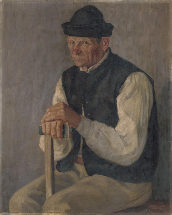 Andrej Kováčik – Štúdia sediaceho drevorubača