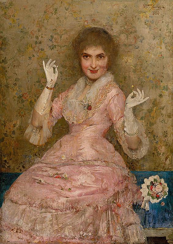 Dominik Skutecký - Žena s kvetom