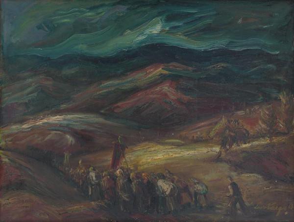 Ľudovít Varga – Krajina s procesiou