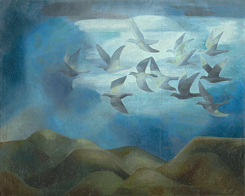 Ester Šimerová-Martinčeková: Vtáci nad horami, 1935.
