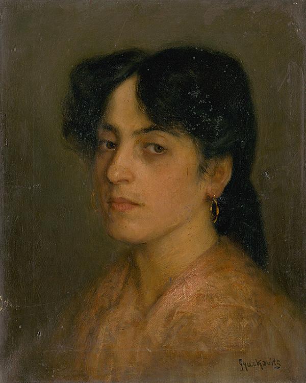 František Gyurkovits - Štúdia portrétu ženy