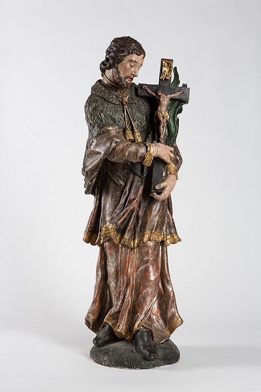 Slovenský rezbár okolo polovice 18. storočia, Neznámy rezbár – Svätý Ján Nepomucký s krížom a palmovou ratolesťou