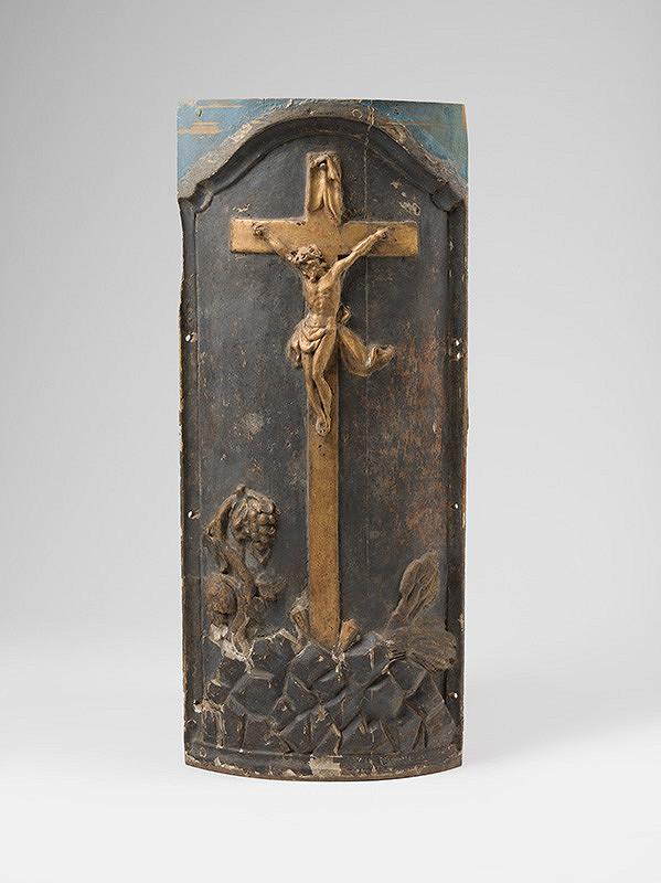 Slovenský rezbár z 3. tretiny 18. storočia, Neznámy rezbár – Dvere tabernákula s Ukrižovaním