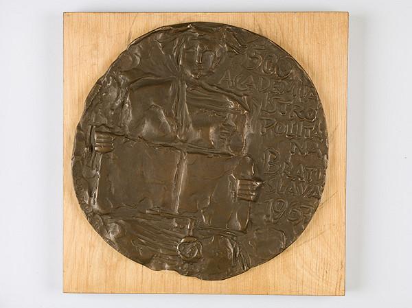 Ladislav Snopek – Návrh medaily k 500.výročiu Academie Istropolitany
