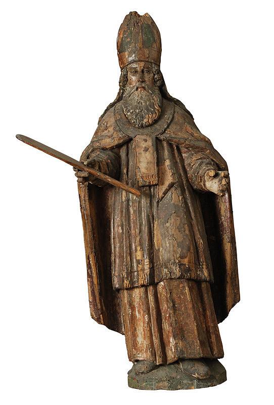 Slovenský rezbár zo 17. storočia, Neznámy rezbár - Svätý biskup