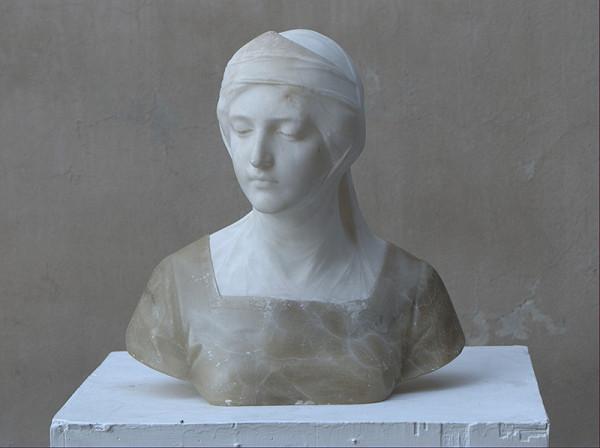 Západoeurópsky sochár z 19. storočia – Hlava ženy