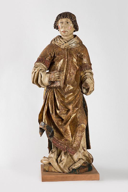 Slovenský rezbár zo začiatku 16. storočia - Svätý Vavrinec z Brutoviec