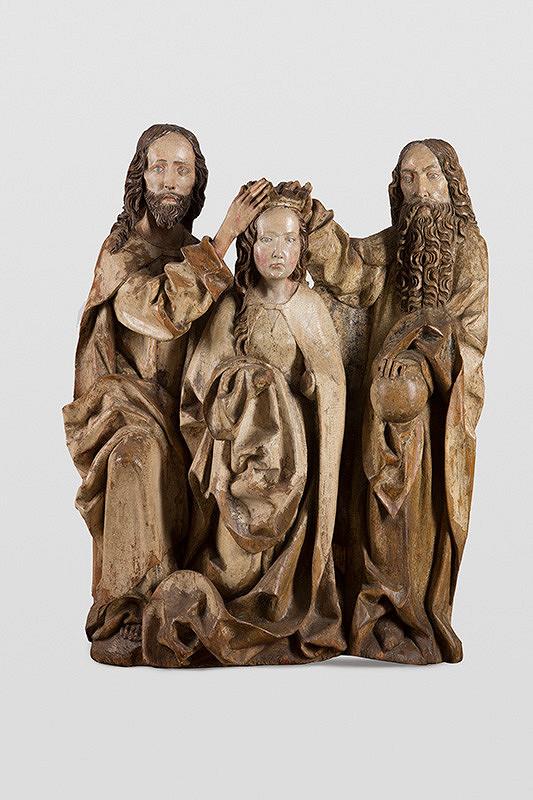 Slovenský rezbár okolo 1500 - Korunovanie Panny Márie