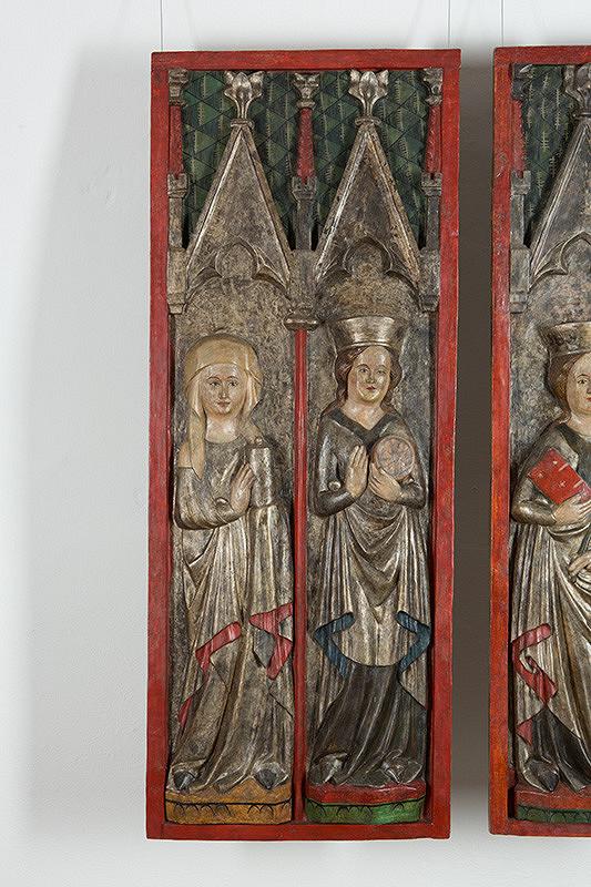 Slovenský rezbár z 4. štvriny 14. storočia - Svätá Magdaléna a Katarína