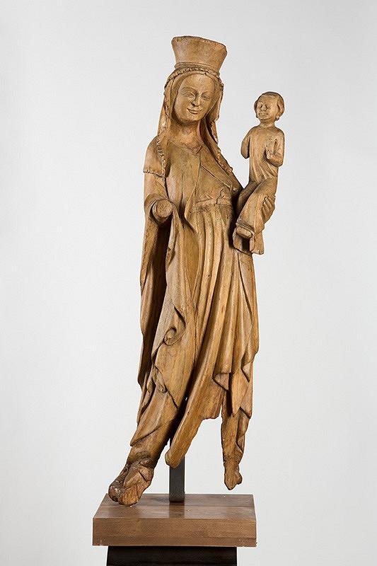 Slovenský rezbár z 1. polovice 14. storočia – Madona zo Strážok