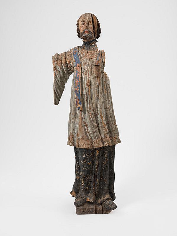 Slovenský rezbár z 19. storočia – Svätý Ján - fragment