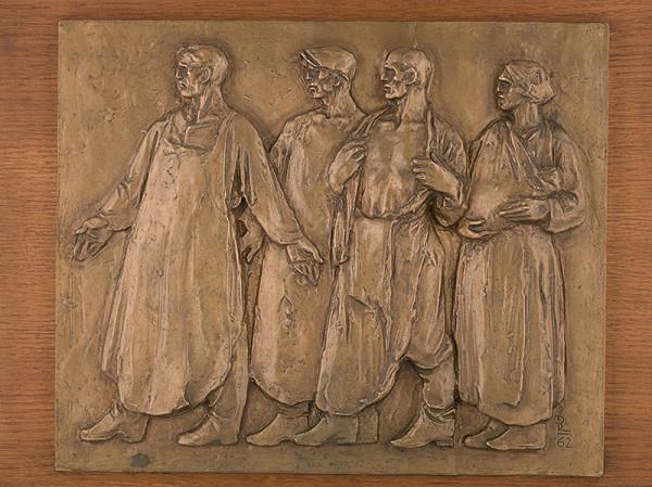 Rudolf Pribiš – Na čele štrajku-reliéf z cyklu Môjmu národu VII.
