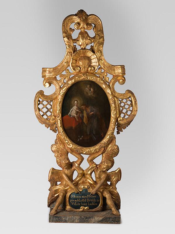 Slovenský rezbár z 2. desaťročia 18. storočia, Neznámy rezbár – Dekoratívny rám obrazu Sv. Ján Nepomucký