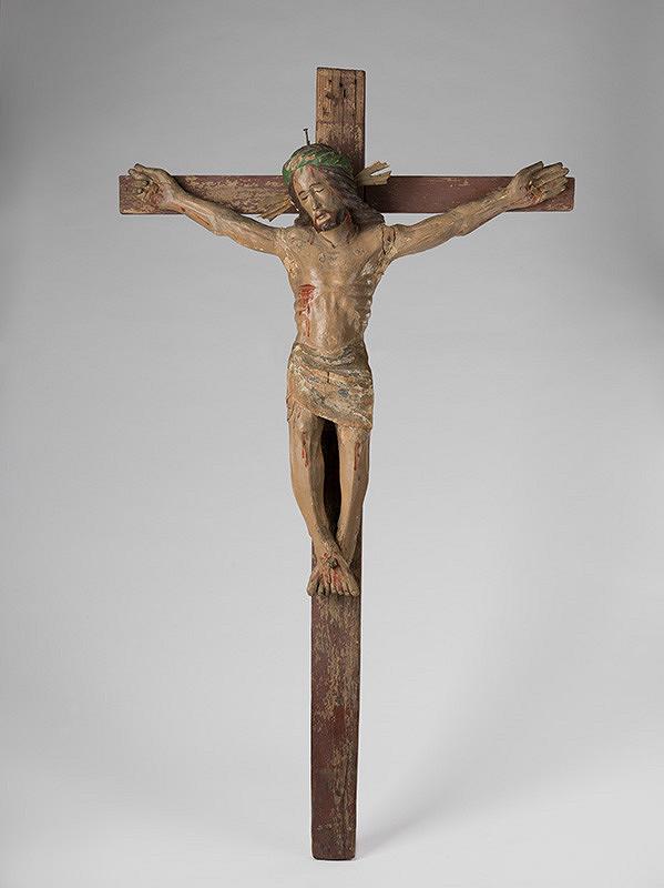 Slovenský rezbár z 19. storočia – Ukrižovaný - na drevenom kríži
