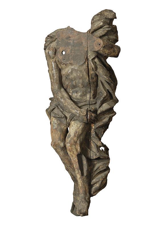 Slovenský rezbár zo začiatku 18. storočia, Neznámy rezbár - Fragment ležiaceho Krista v hrobe