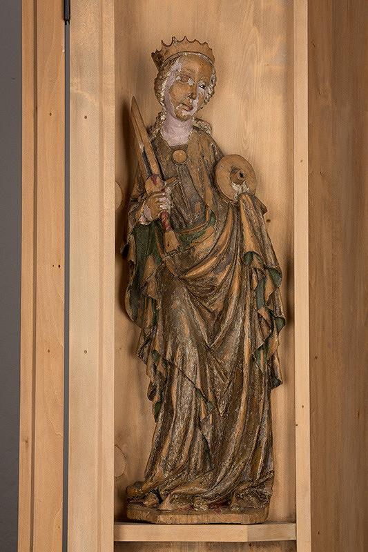 Slovenský rezbár zo začiatku 15. storočia, Majster Madony z Lomničky - Svätá Katarína Alexandrijská