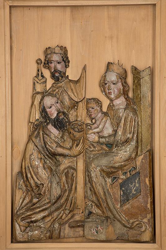 Slovenský rezbár zo začiatku 15. storočia, Majster Madony z Lomničky - Klaňanie troch kráľov