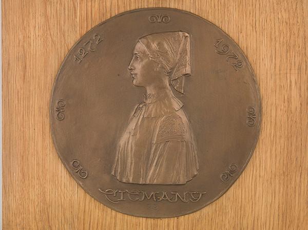 Rudolf Pribiš – Štúdia medaily  700 rokov obce Čičmany