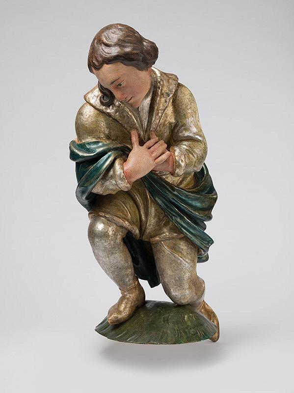 Slovenský rezbár z 3. tretiny 18. storočia, Neznámy rezbár – Kľačiaci pastier I.