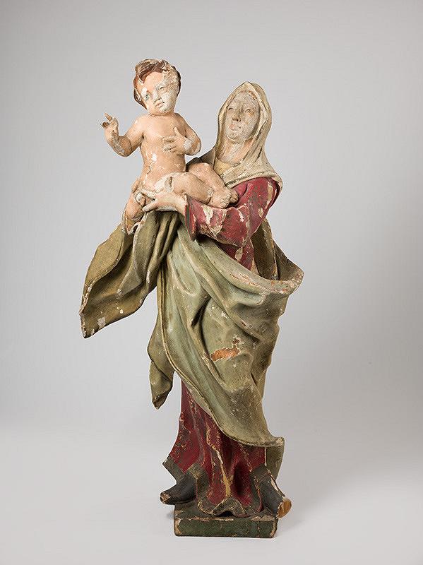 Slovenský rezbár z 2. polovice 18. storočia, Neznámy rezbár – Mária s dieťaťom