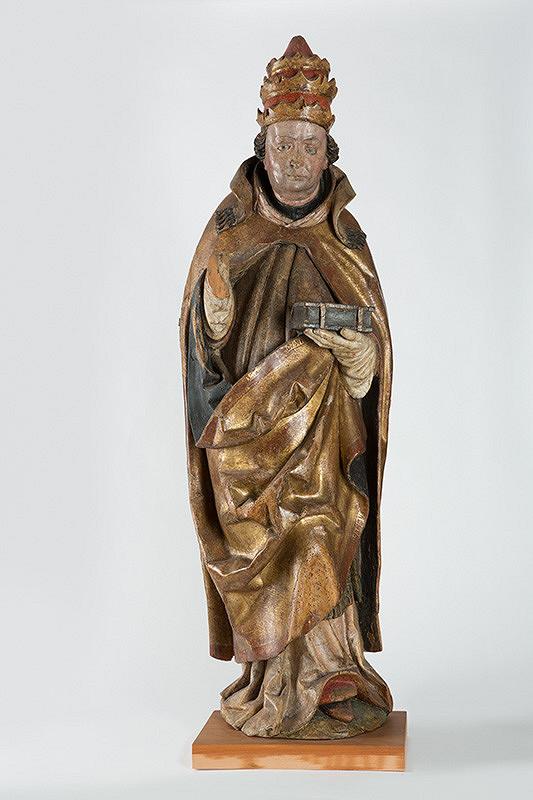 Juhonemecký rezbár zo začiatku 16. storočia - Svätec - pápež