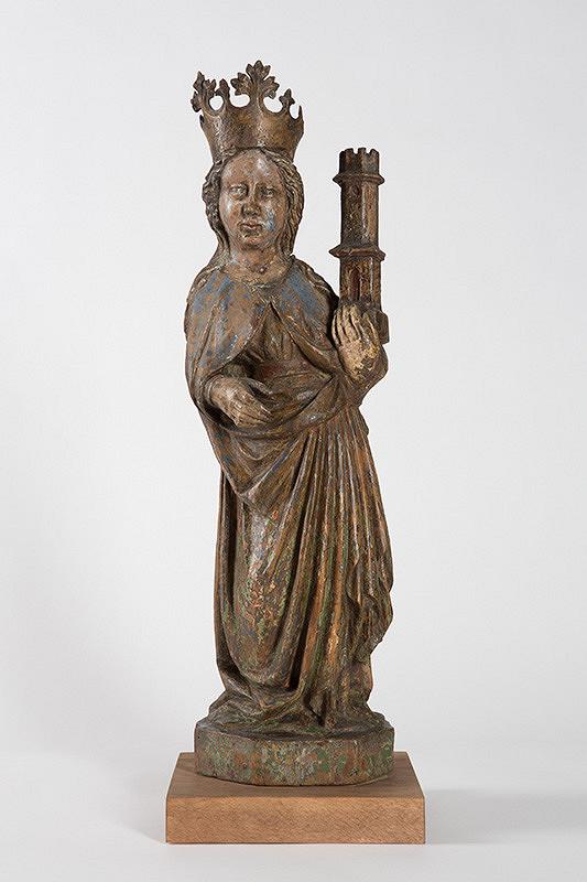 Slovenský rezbár z 15. storočia - Svätá Barbora-panna a mučednica