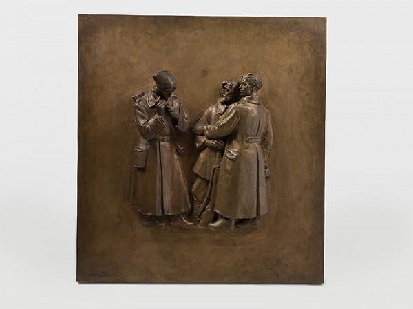 Rudolf Pribiš – Pred bojom - pole z dverí pre Slavín v Bratislave