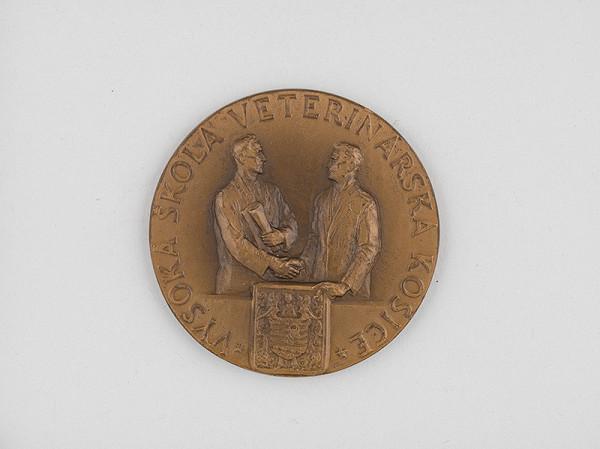 Andrej Peter - Medaila Dar zverolekárskej komory 1949 - averz