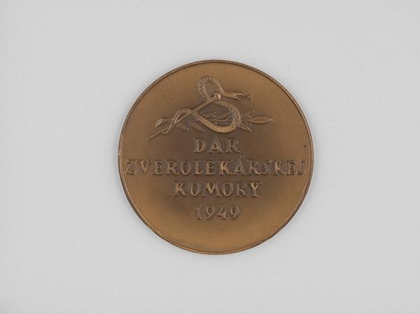 Andrej Peter - Medaila:Dar zverolekárskej komory 1949.Reverz,rektorská medaila