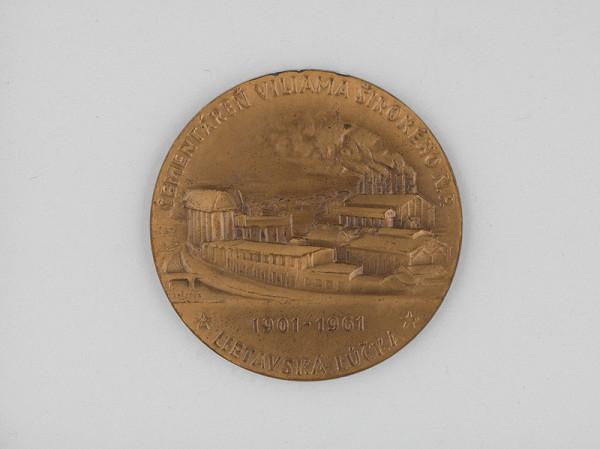 Andrej Peter - Medaila - 60.výroč. založenia cementárne V.Širokého v Lietavskej Lúčke 1901-1961
