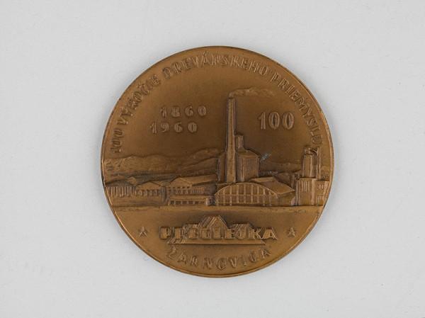 Andrej Peter – Medaila-Preglejka 1860-1960. 100.výročie drevárskeho priemyslu