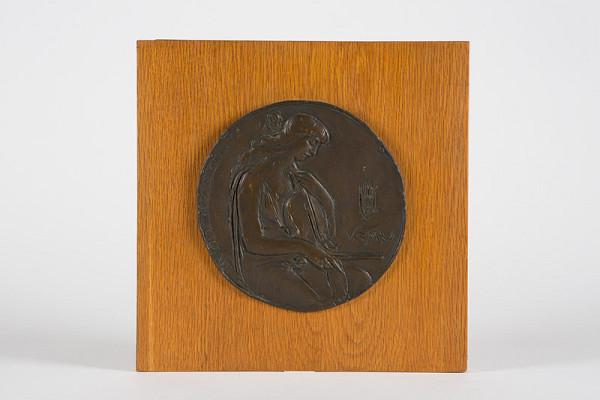Rudolf Pribiš – Štúdia averzu medaily dekana