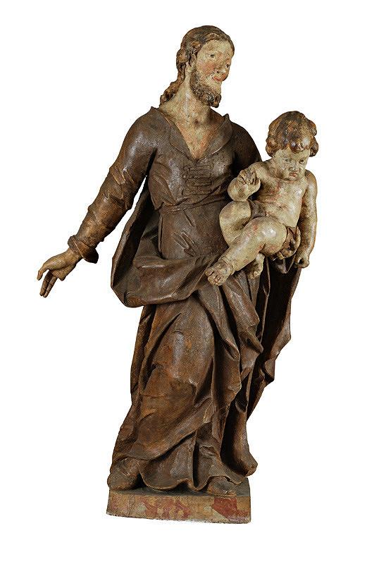 Slovenský rezbár okolo polovice 18. storočia, Neznámy sochár - Svätý Jozef s Ježiškom