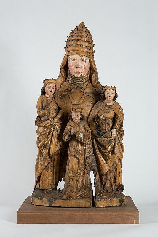 Slovenský rezbár z konca 15. storočia - Svätá Žofia s troma dcérami